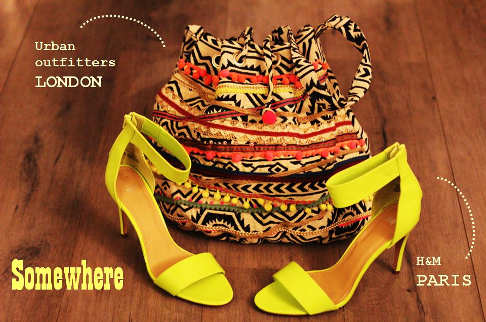 Sac Ecote Urban Safari Satchel urban outfitters stilettos jaune fluo h&m