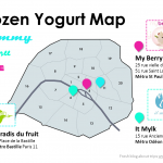 La carte des Frozen Yogurt de Paris (free fat ice cream)