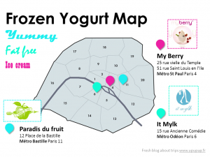 frozen yogurt map paris ice cream low fat