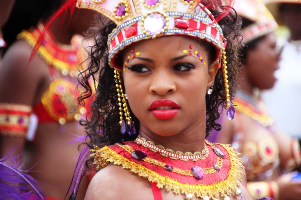 face of bajan woman barbados island crop over fest event caribean barbade