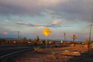 sunset us road trip
