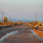 Merveilleux coucher de soleil sur Yucca Valley (Californie)