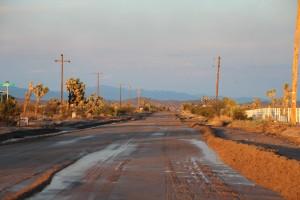 sunset road trip california dream desert josha valley
