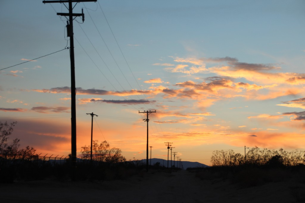 sunset road trip california dream desert yucca valley