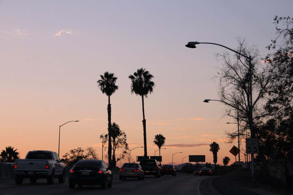 sunset road trip los angeles on the road