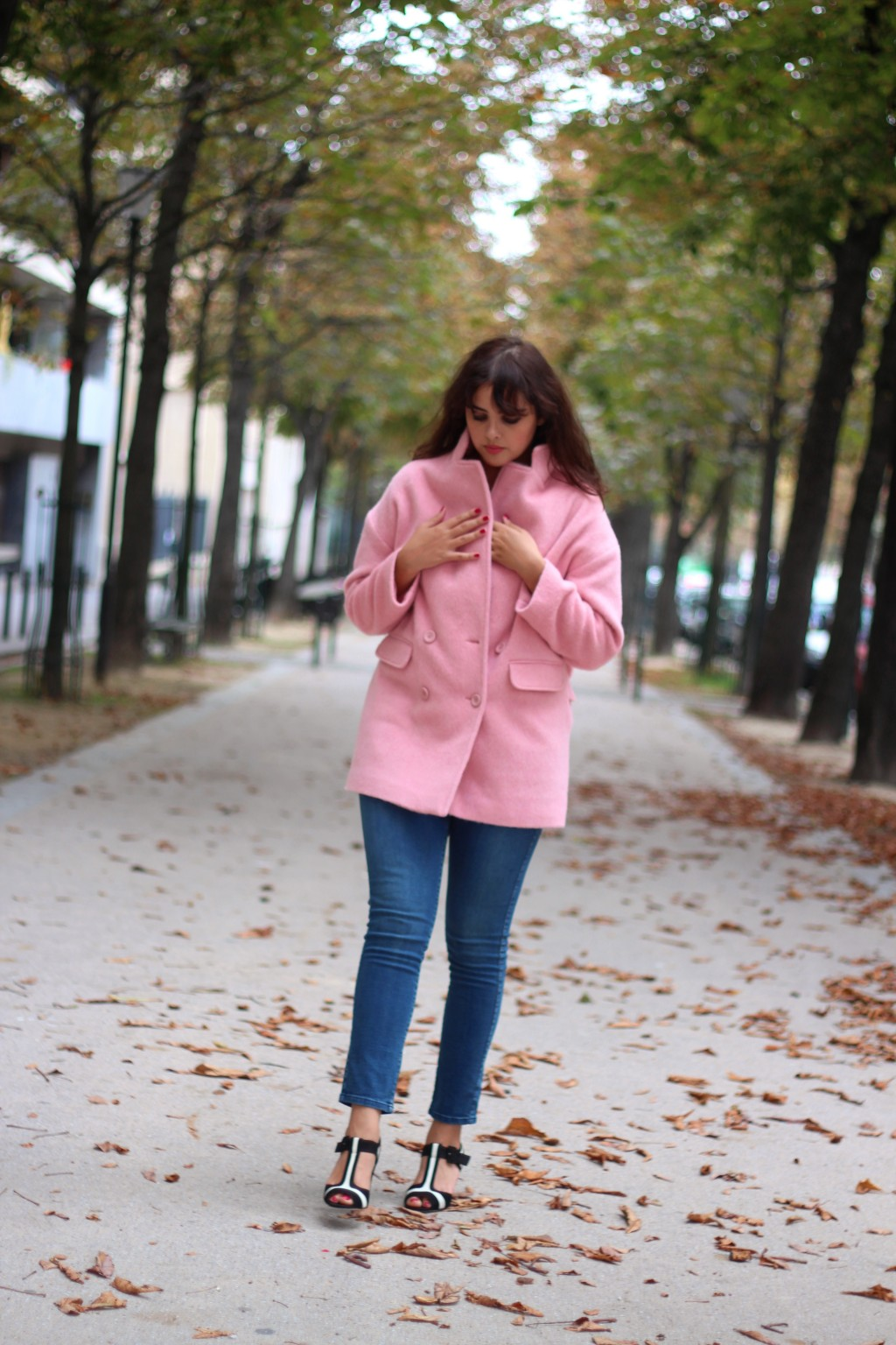 Pink Coat, Manteau Rose, Paris (c) blog upupup.fr
