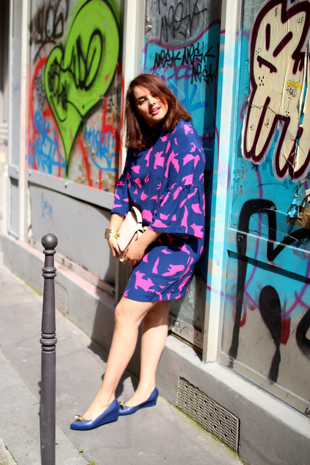 pink foliage dress upupup.fr