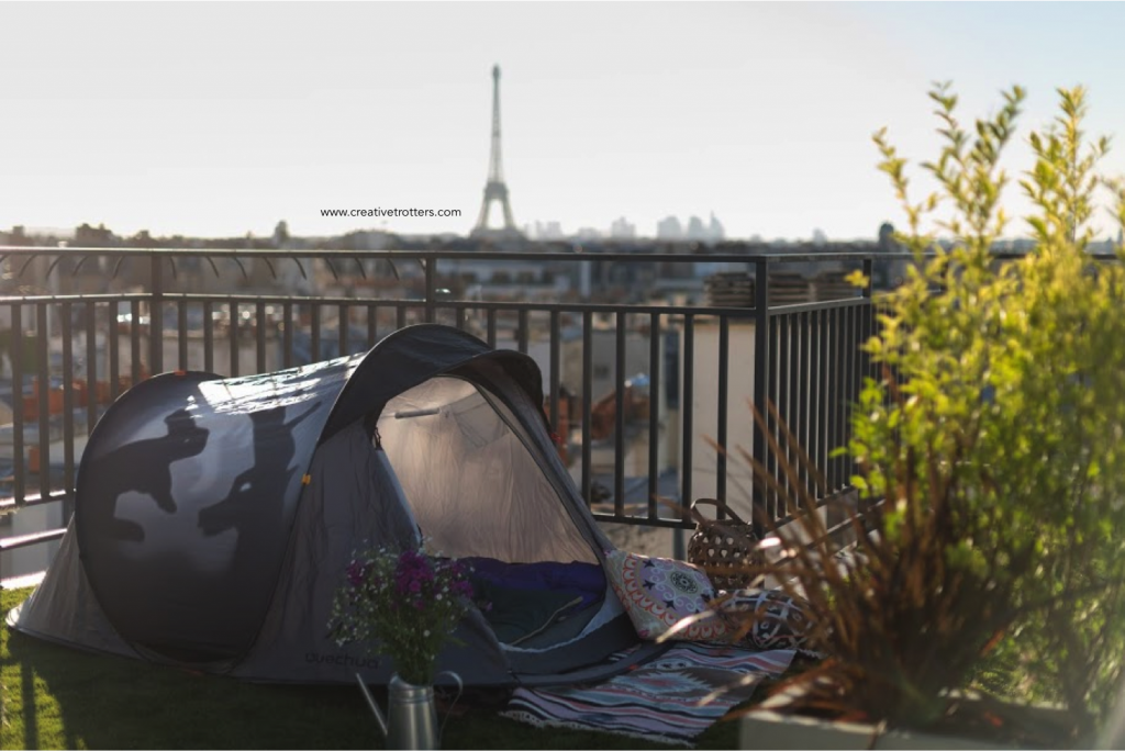HOTEL CAMPING ROOFTOP PARIS CREATIVETROTTERS