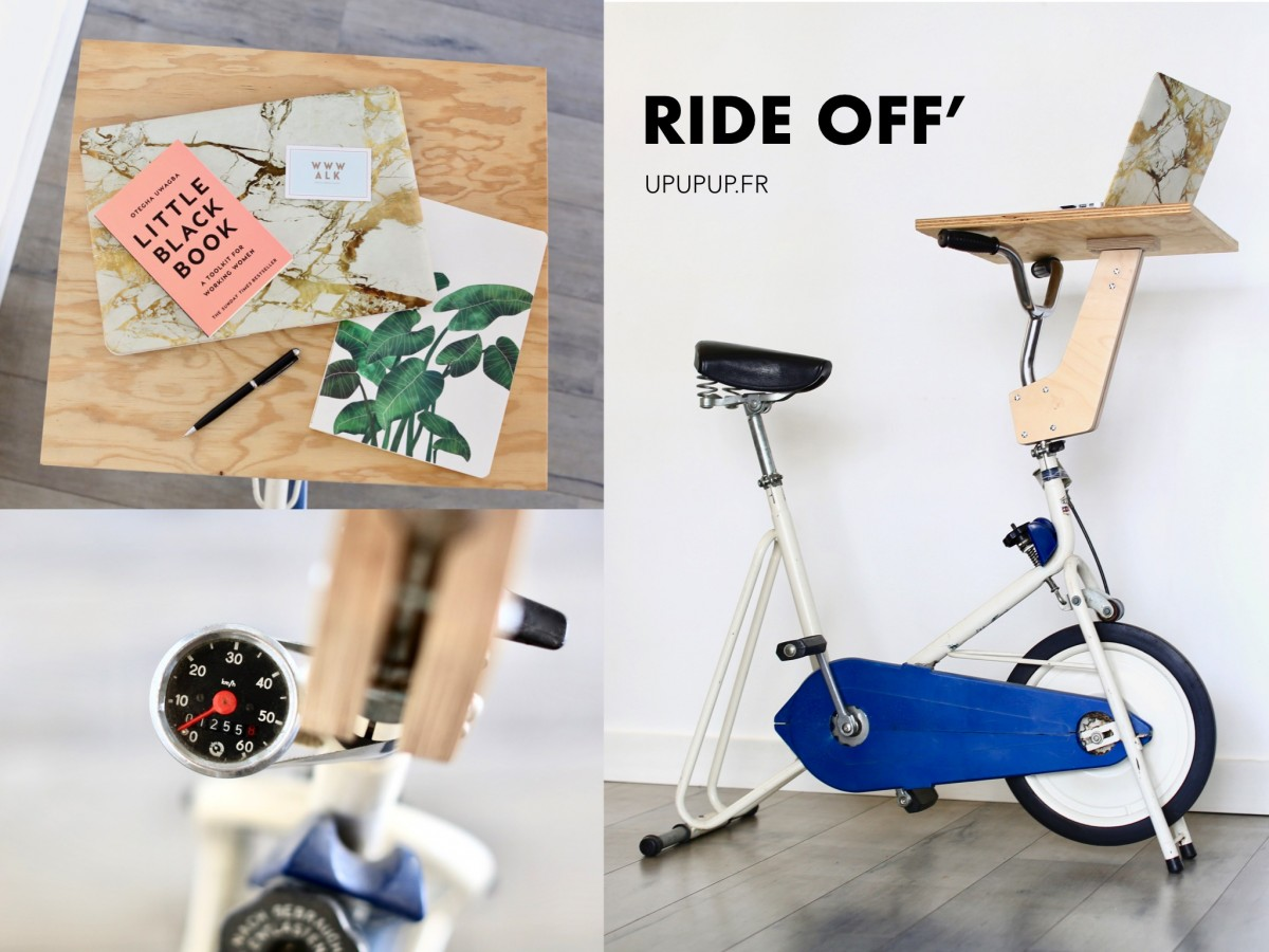 RIDE OFF Concept Bureau Vélo Confinement upupup.fr