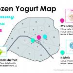 La carte des Frozen Yogurt de Paris (free fat ice cream)
